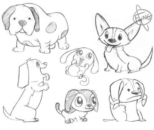 Perros De Varias Razas Para Pintar Y Colorear Dibujo De Muchos