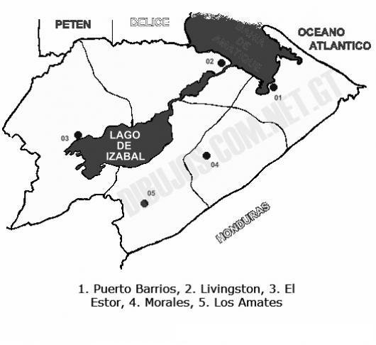 Colorear Mapa Del Departamento De Izabal Lamina Del