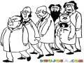 Cientificos Locos Dibujo De Una Convencion De Cientificos Para Pintar Y Colorear Congreso De Ciencia