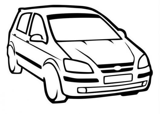 Dibujo De Carro Hyundai Getz Para Pintar Y Colorear