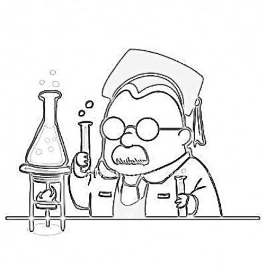 Dibujo De Estudiante De Quimica Para Pintar Y Colorear Recien