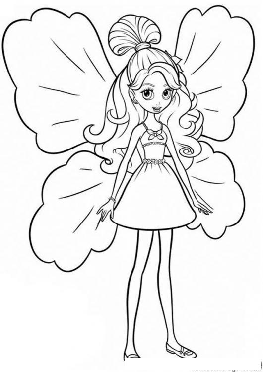 Dibujo De Hada Madrina Chiquitita Para Pintar Y Colorear Nina