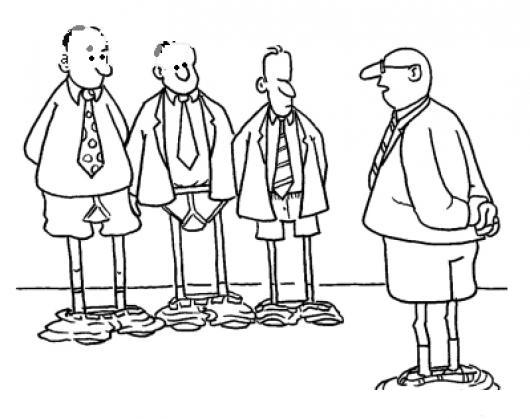 Pantalones Caidos Dibujos De Jefe Y Empleados En Boxerscon Los ...