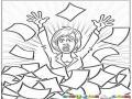 Estres Femenino Dibujo De Secretaria Estresada En Medio De Tantos Papeles Para Pintar Y Colorear