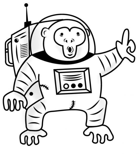 Mono Astronauta Para Pintar Y Colorear Mico En El Espacio   COLOREAR ...