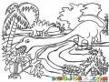Dinosaurio De Cuello Largo Comiendo Una Planta Para Pintar Y Colorear
