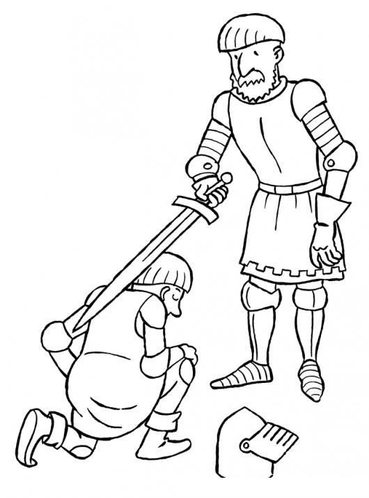 Bautizo De Caballero Medieval Para Pintar Y Colorear | COLOREAR ...