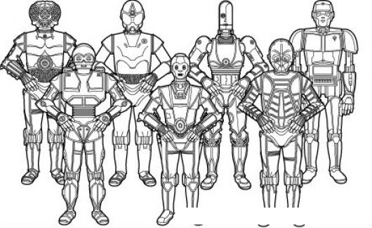 Ejercito De Robots Para Pintar Y Colorear  COLOREAR DIBUJOS
