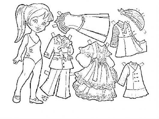 Dibujo De Vestir A Una Munequita Con Varios Vestidos Para Imprimir ...