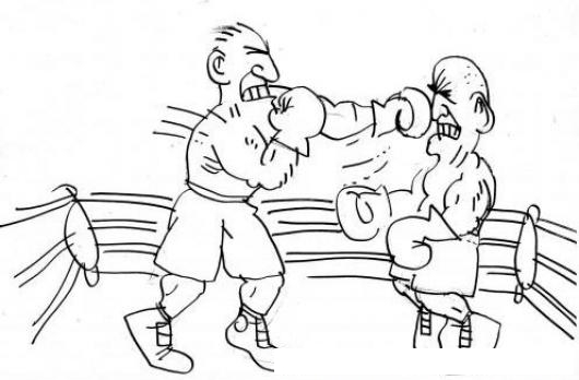 Ver Peleas De Box Gratis Dibujo De Boxeadores En Un Cuadrilatero