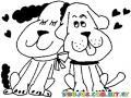 Colorear perros enamorados