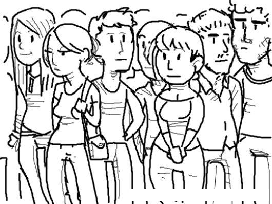 Dibujo De Estudiantes Universitarios Para Pintar Y Colorear Un