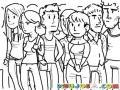 Dibujo De Estudiantes Universitarios Para Pintar Y Colorear Un Grupo De Personas