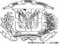Escudo De Republica Dominicana Para Colorear