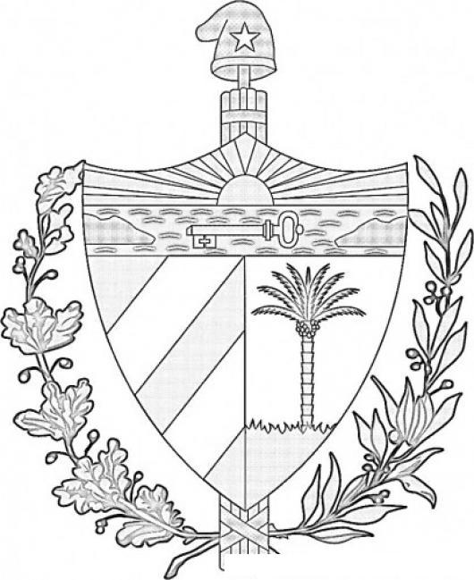 Escudo De Cuba Para Colorear | COLOREAR DIBUJOS VARIOS | Escudo De ...