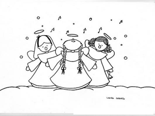 Dibujos De Angelitos Colorear Dibujos De Cholo Angelitos Para