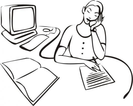 Dibujo De Secretaria Hablando Por Telefono Para Pintar Y