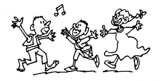 Negritos Afrocolombianos Bailando Para Colorear | COLOREAR DIBUJOS