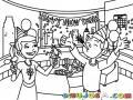 Fiesta De Fin De Ano Para Pintar Y Colorear