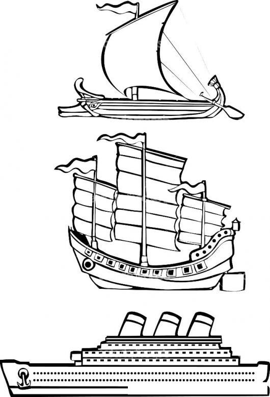 Dibujo De Barcos Para Colorear La Evolucion De Los Barcos En El