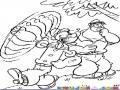 Dibujo De Popeye A Punto De Pegarle A Brutus