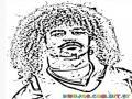 Colorear Carlos Valderrama Jugador de Futbol de colombia