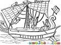 Dibujo De Barco Antiguo Para Pintar Y Colorear