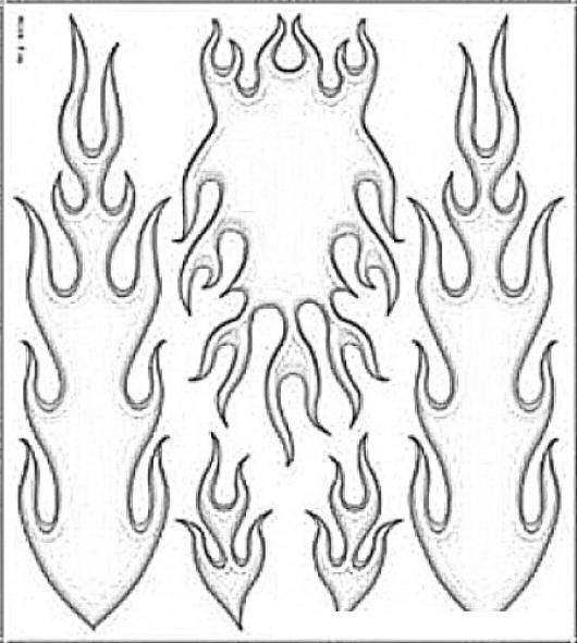 Llamas De Fuego Para Pintar Y Colorear  COLOREAR DIBUJOS VARIOS