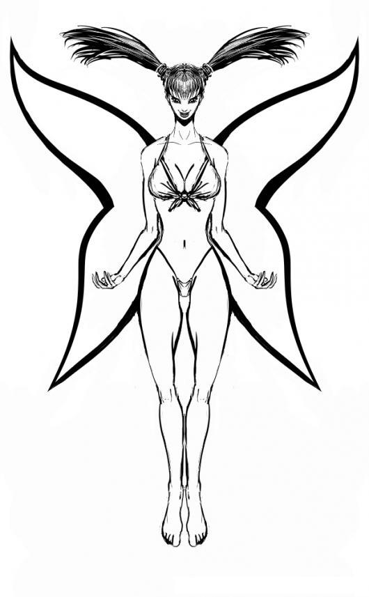 Mujer Con Alas De Mariposa Para Colorear | COLOREAR DIBUJOS VARIOS