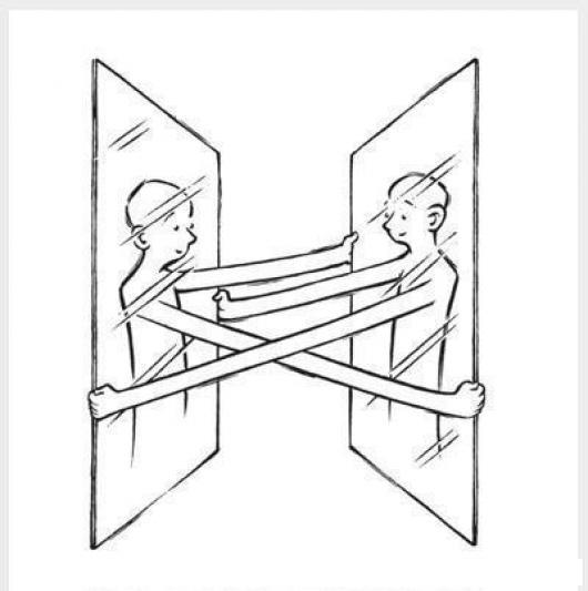 Dibujo de espejos abrazados para pintar y colorear - Dibujos para espejos ...