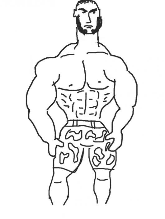 Colorear Dibujo De Hombre Musculoso   COLOREAR DIBUJOS VARIOS ...