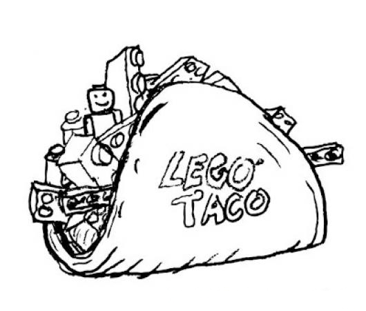 dancing taco coloring pages - photo#13