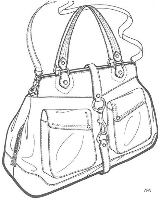 Bolsa de mujer de puro cuero para pintar y colorear - Bolsas para pintar ...