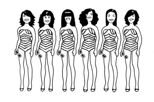 Concurso De Belleza De Mujeres En Calzoneta Para Pintar Y Colorear ...