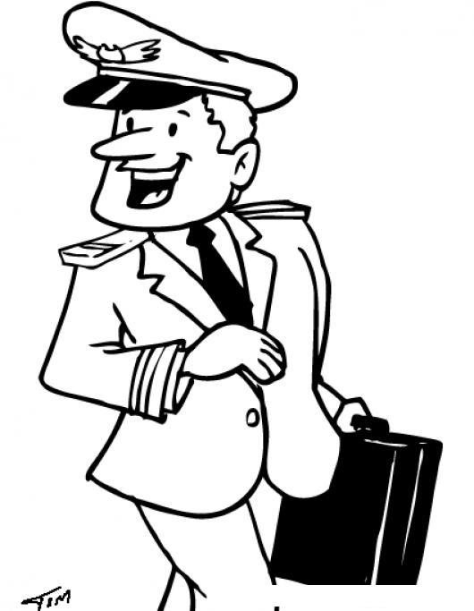 Dibujo De Piloto Aviador Con Maletin Para Pintar Y Colorear : COLOREAR ...