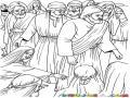 Quien Me Toco Dibujo De La Mujer Tocando El Manto De Jesus Entre La Multitud Para Pintar Y Colorear