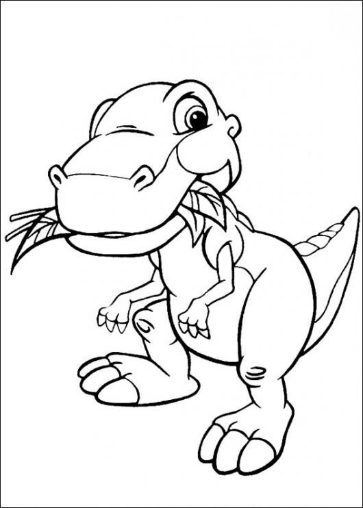 Dibujo De Dinosaurio Vegetariano Comiendo Hojas Para Colorear ...