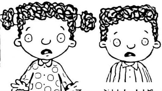 Ninos Asustados Dibujo De 2 Hermanitos Colochos Para