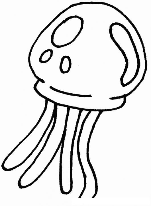 Dibujo De Una Medusa De Mar Para Pintar Y Colorear