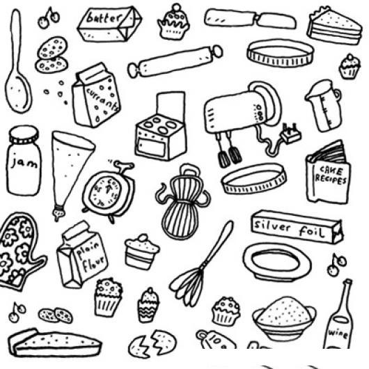 Elementos de cocina para colorear colorear dibujos - Dibujos de cocina para pintar ...