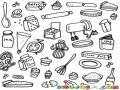 Elementos De Cocina Para Colorear