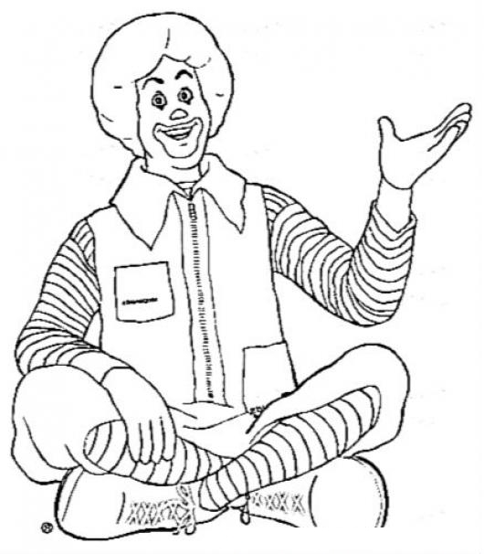 Ronald Mcdonald Clown Coloring Page Coloring Pages