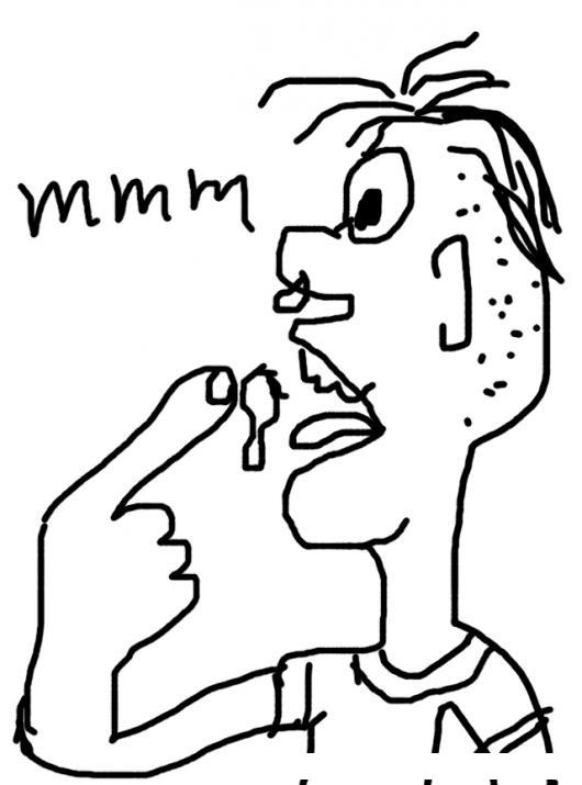 Comedor de mocos colorear dibujos varios comer mocos dibujo de