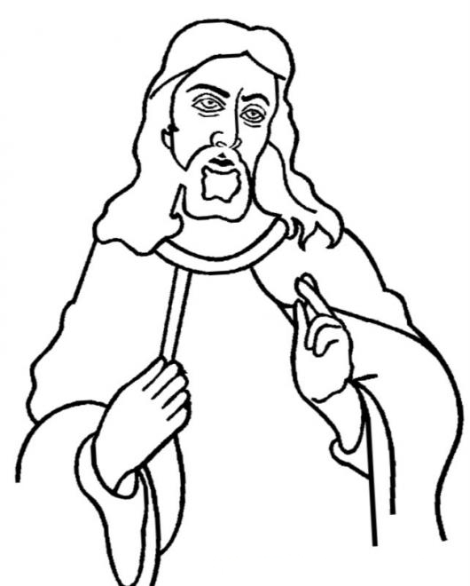 JesuCristo Dibujo De JESUS Para Pintar Y Colorear A CristoJesus ...