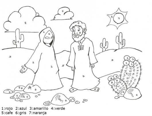 Dibujo Cristiano Para Colorear Por Numeros Dibujo De Jesus Siendo