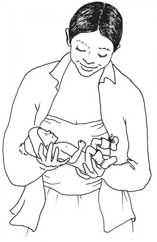 Mama Con Recien Nacido Dibujo De Bebito Prematuro Con Su ...