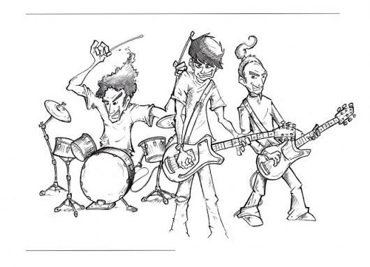Banda De Rock Para Colorear Jovenes Rockeros Colorear Dibujos
