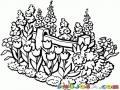 Dibujo De Un Jardin De Flores Para Pintar Y Colorear