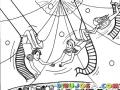 Colorear Trapecistas De Circo