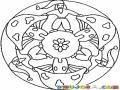 Mandala De Hongos Y Duendes Para Pintar Y Colorear